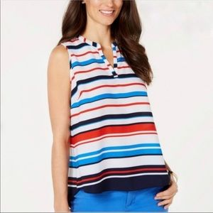 Charter Club Striped Top Medium red white blue